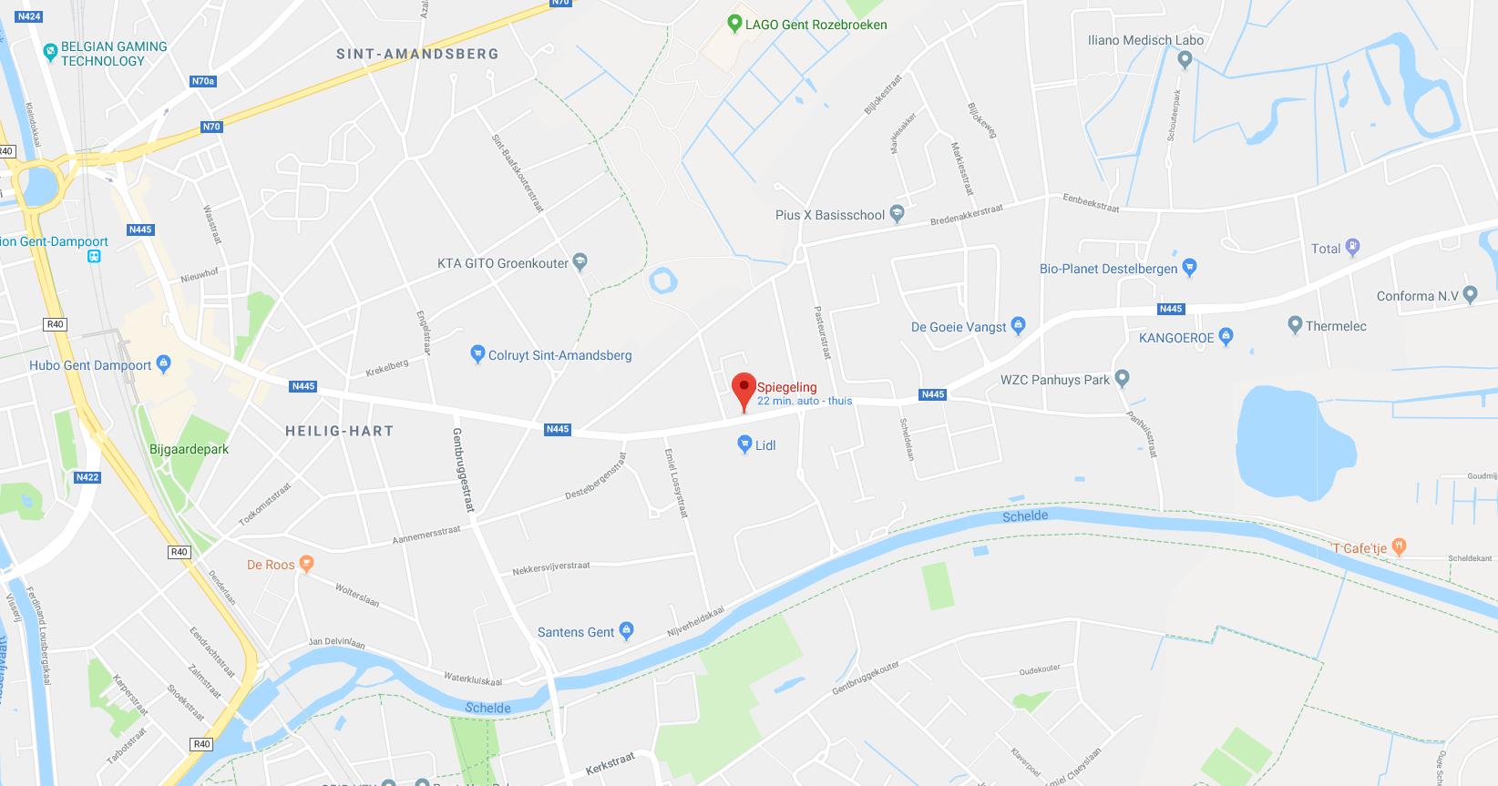 Google maps spiegeling